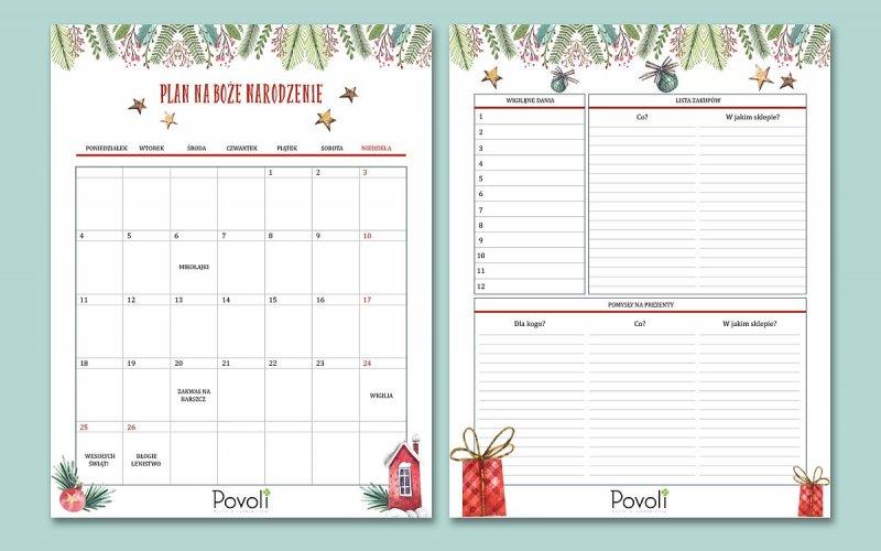 Prezent: świąteczny planner i lista zakupów